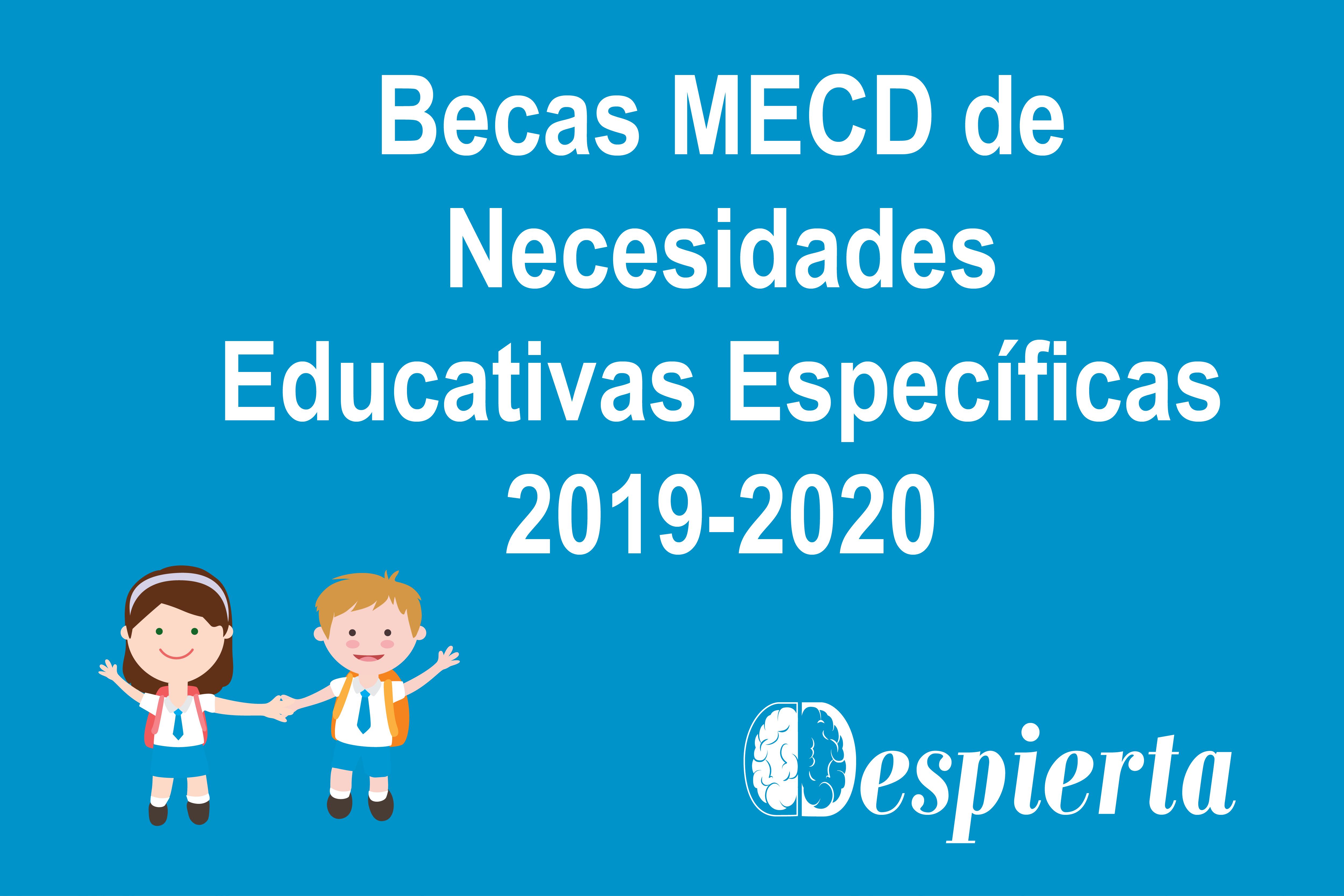 Convocatoria de las Becas MECD de Necesidades Educativas Específicas 2019-2020